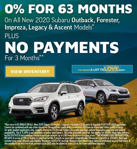 0% APR + No Payments