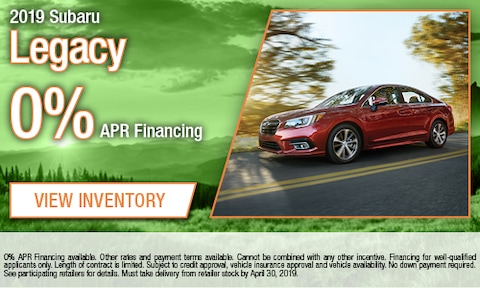 April - 2019 Subaru Legacy Finance
