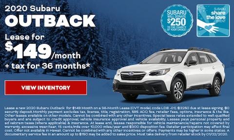 2020 Subaru Outback Lease