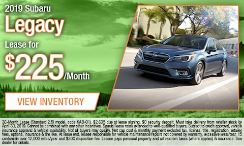 April - 2019 Subaru Legacy Lease