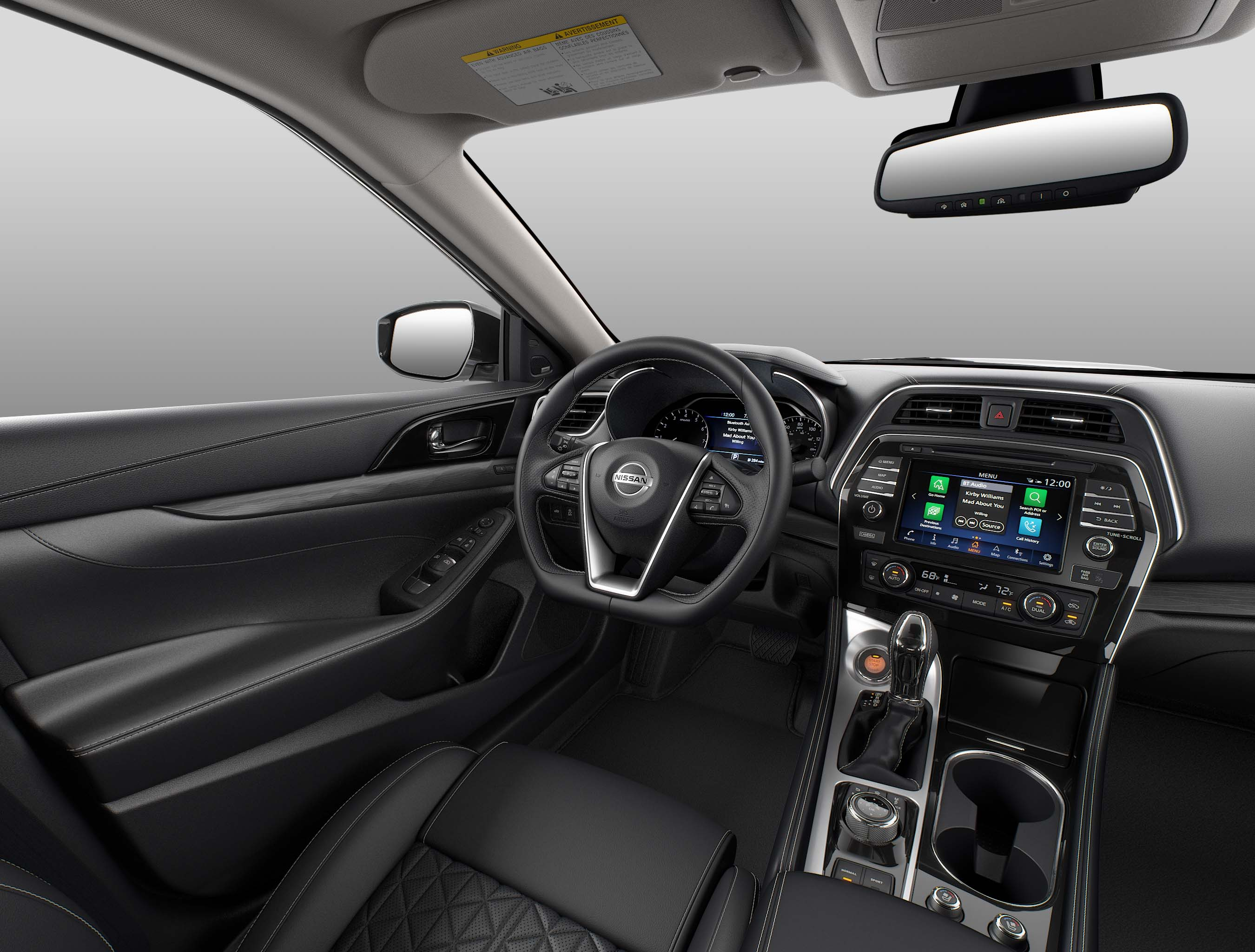 Performance Features of the 2019 Nissan Maxima at Hanover Nissan of Hanover | The black interior of th e2019 nissan maxima