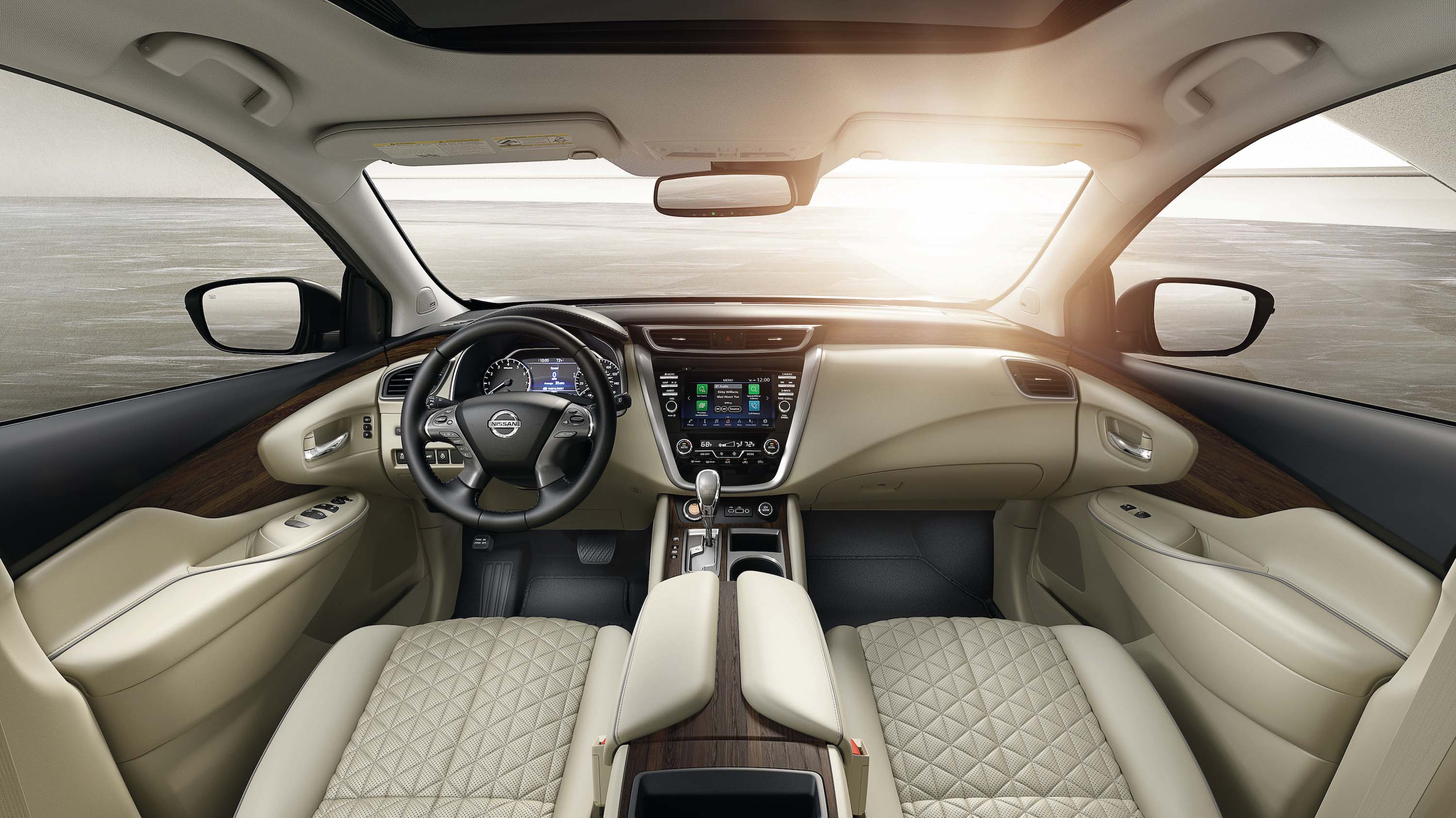Features of the 2019 Nissan Murano at Hanover Nissan | The beige interior of the 2019 murano