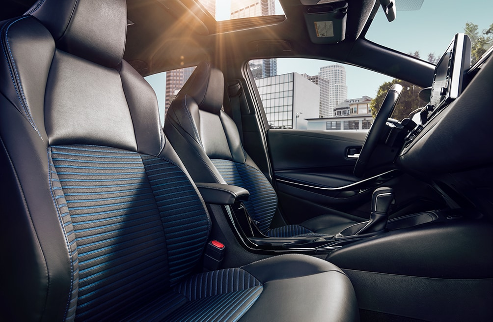 Model Features of the 2020 Toyota Corolla at Hanover Toyota in Hanover | The black interior of the 2020 toyota corolla