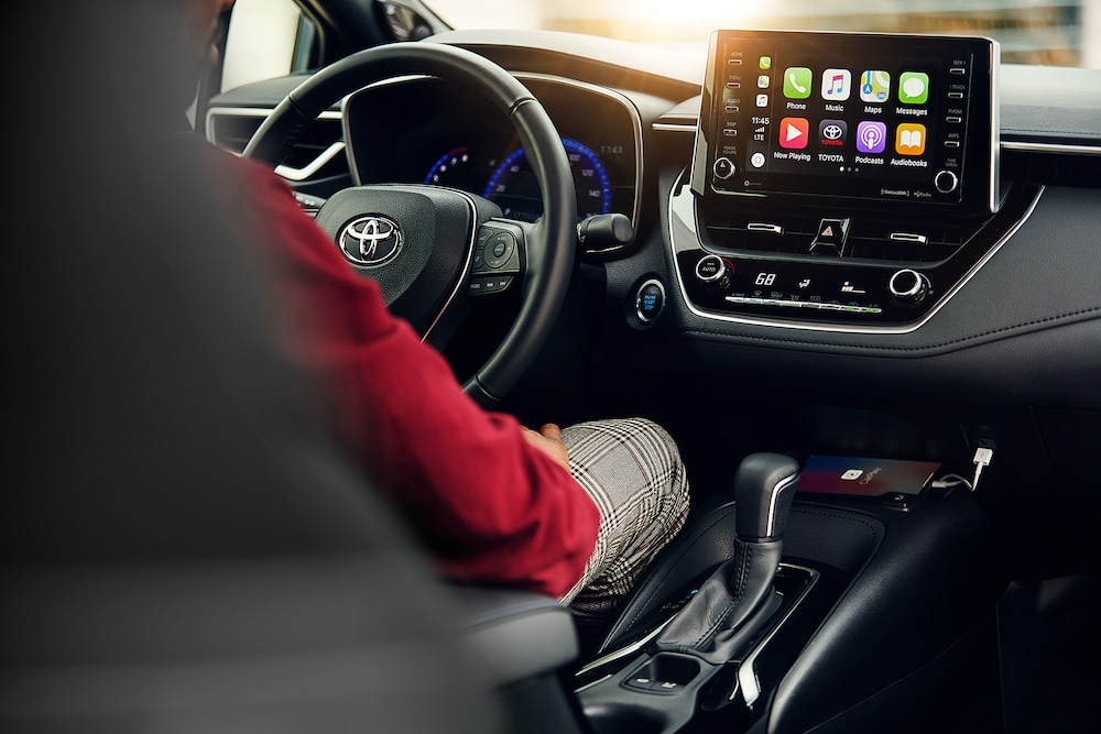 Model Features of the 2020 Toyota Corolla at Hanover Toyota in Hanover | The dashboard of the 2020 toyota corolla