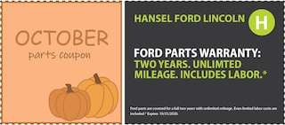 Ford Parts Warranty*