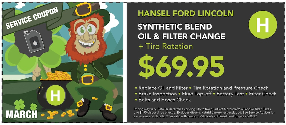Synthetic Blend Oil and Filter Change and Tire Rotation