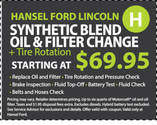 Synthetic Blend Oil & Filter Change and Rotation