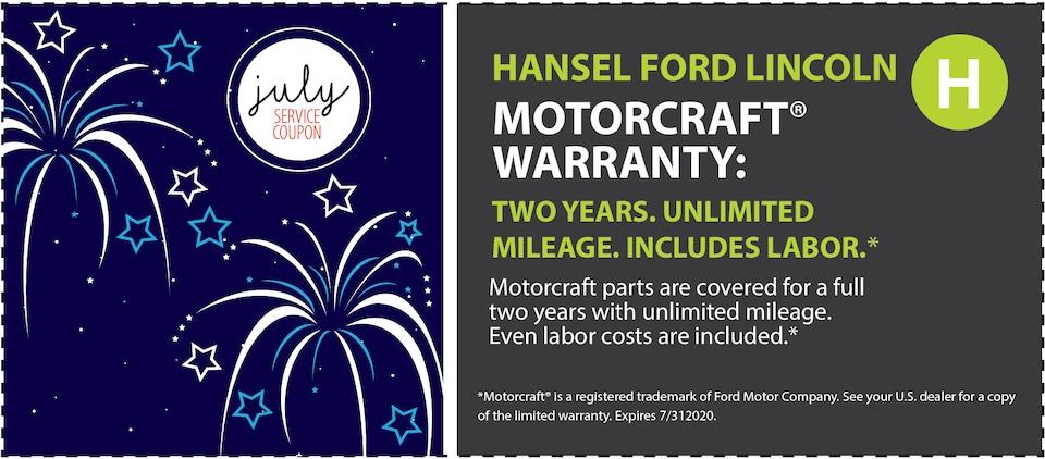 Motorcraft Warranty