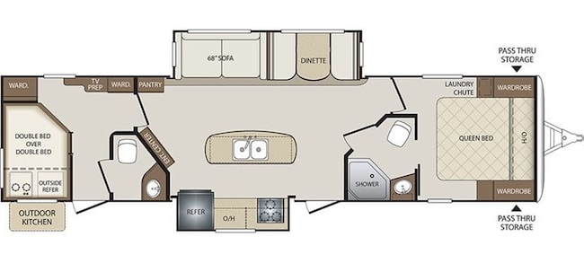 2018 BULLET 330 BHS Double Sized Bunk Room COMING SOON !!