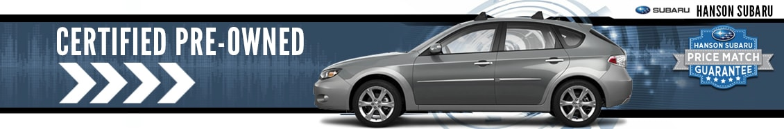 Certified Pre-Owned Vehicles at Hanson Subaru in Olympia, WA