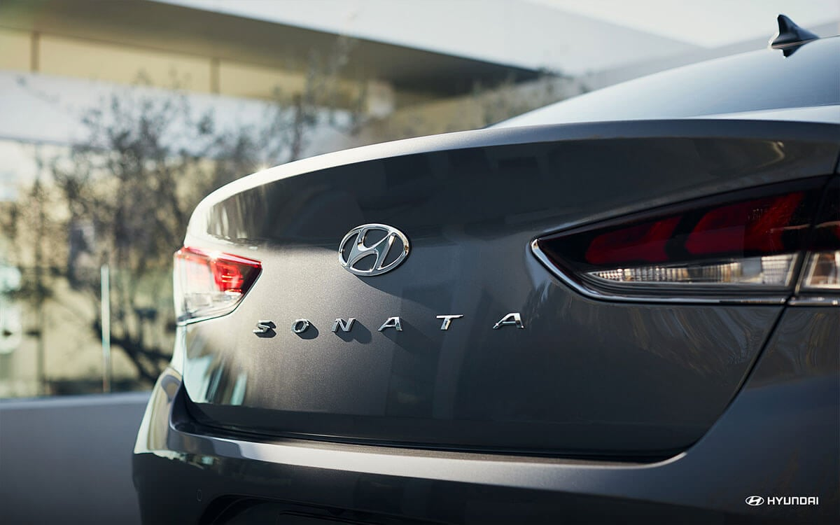 Back of the 2018 Hyundai Sonata
