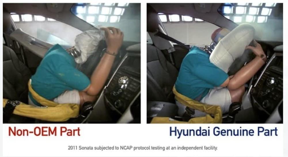 OEM Hyundai Airbag vs Counterfiet Hyundai Airbag from Hyundaiusa.com