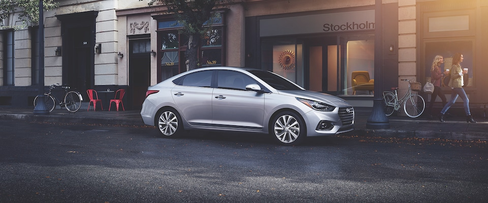 2019 Hyundai Accent parked on a a city street