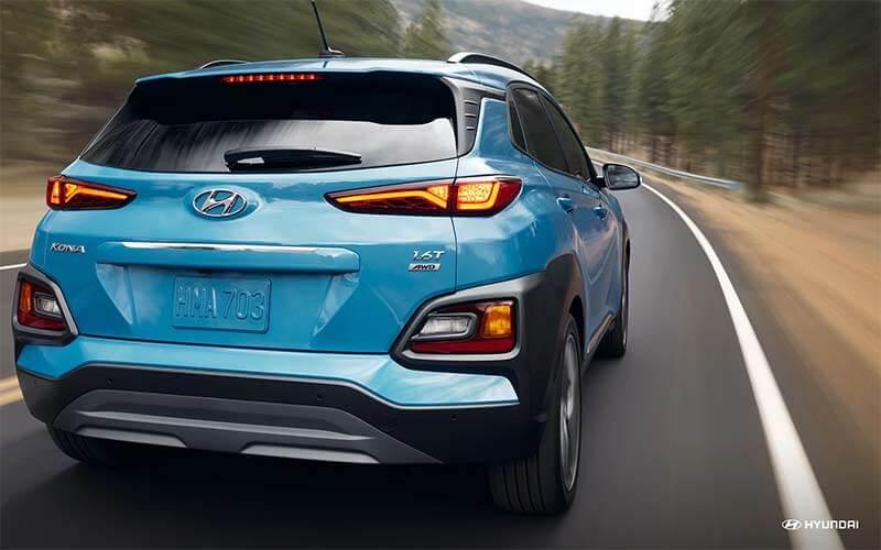 2018 Hyundai Kona with available LED taillights