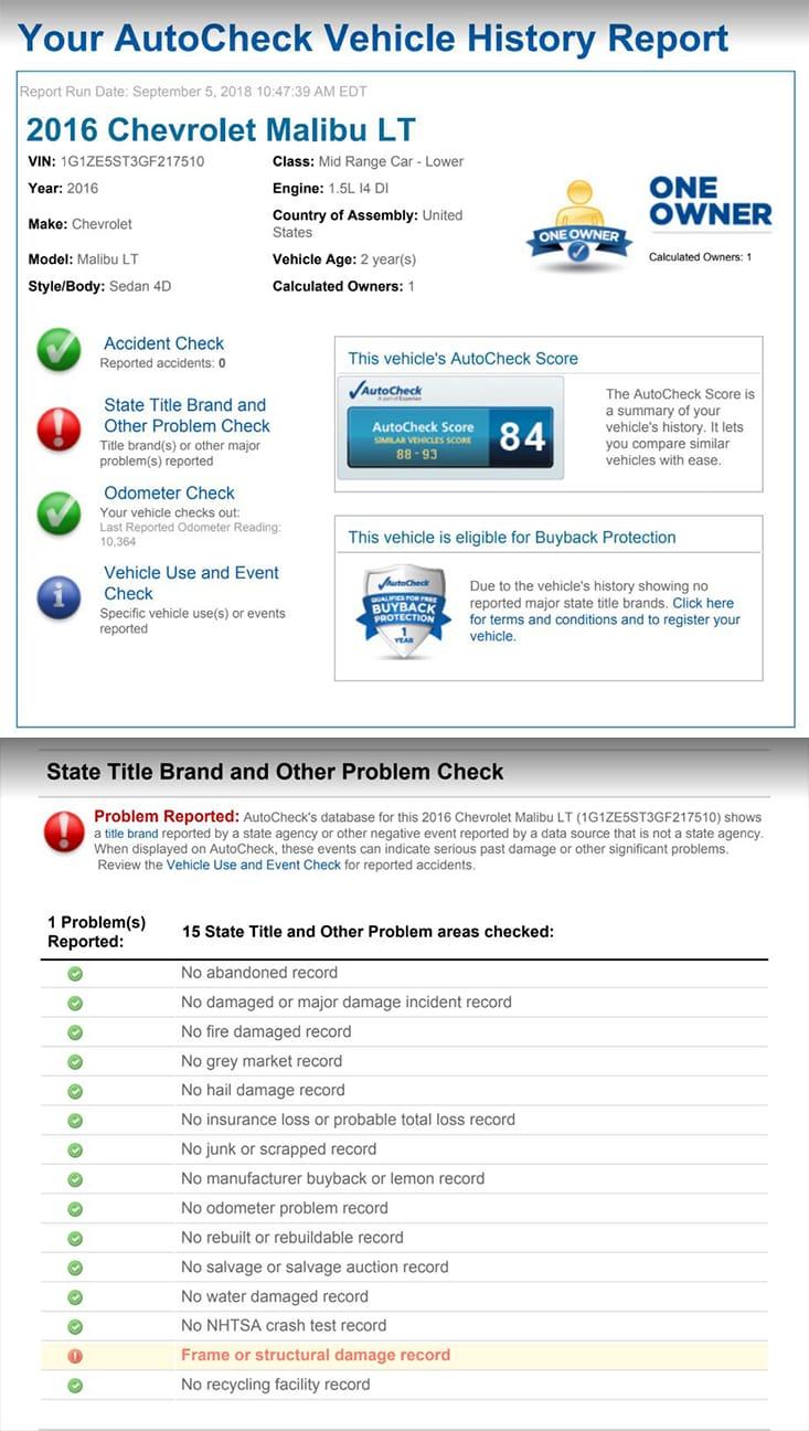 Free Vehicle History Report Score Autocheck Com Autocheck