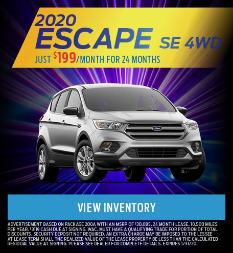 January 2020 Ford Escape Offer