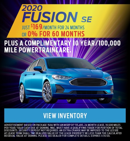 January 2020 Ford Fusion Offer