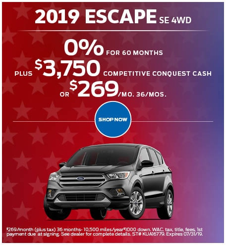 July 2019 Ford Escape Special