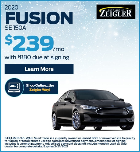 2020 Ford Fusion - Lease