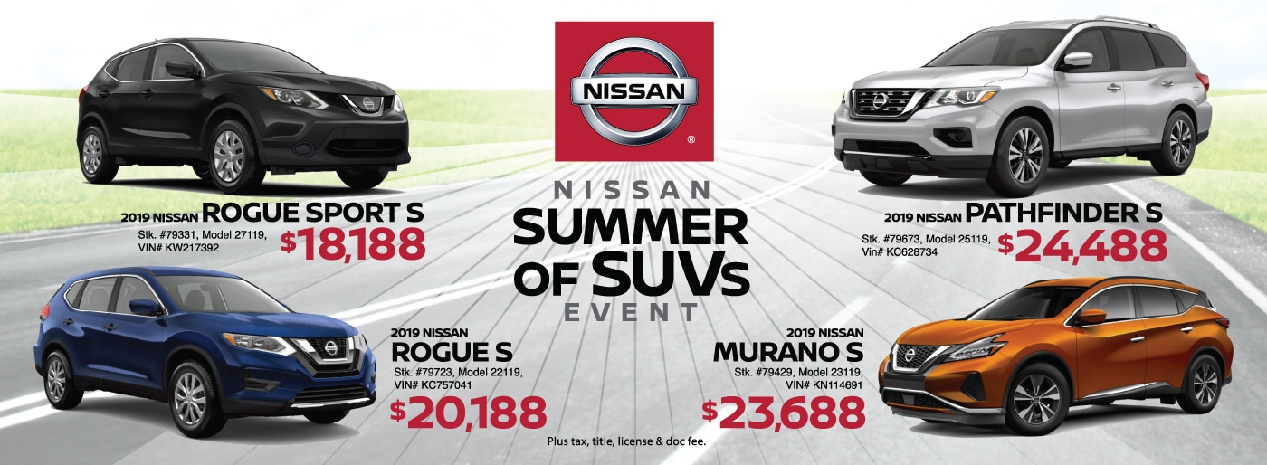 Nissan Summer of SUVs Sales Event at Zeigler Nissan of Orland Park