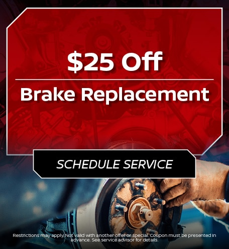 $25 Off Brake Replacement