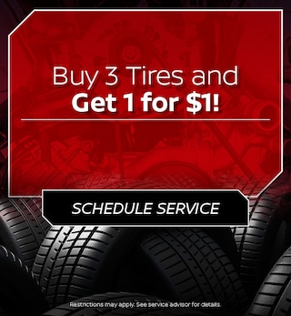 Buy 3 Tires and Get 1 for $1!
