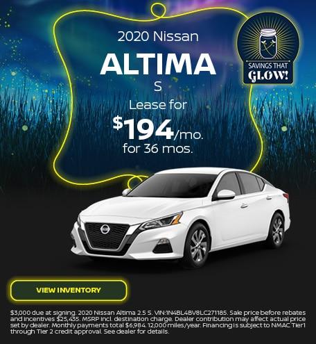 2020 Nissan Altima S - September 2020