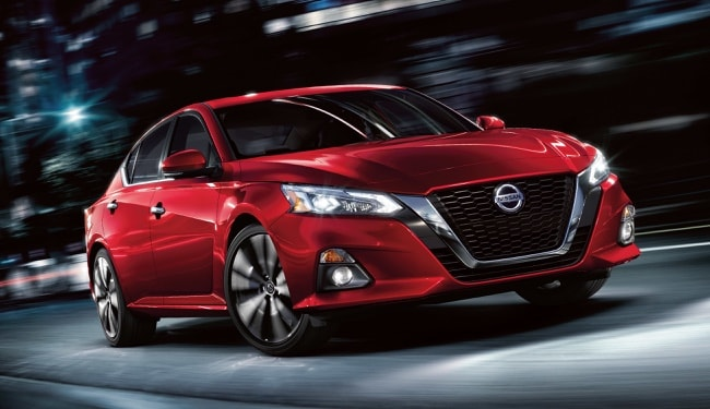 The 2019 Nissan Altima has an athletic exterior with sleek and muscular curves