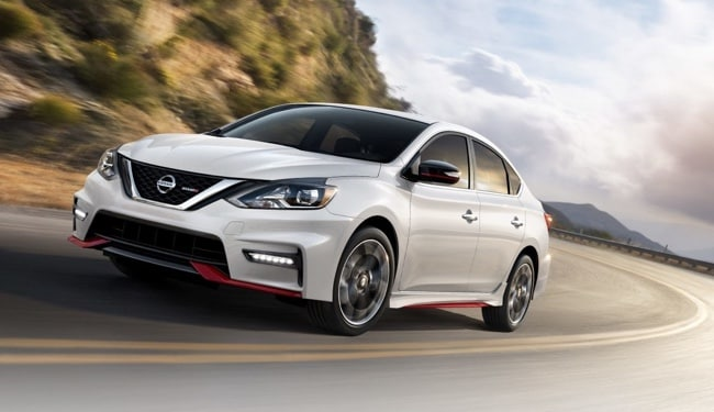 The sleek exterior of the 2019 Nissan Sentra