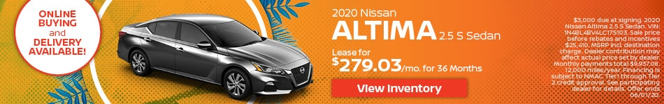Nissan Altima 2.5 S Sedan - May 2020