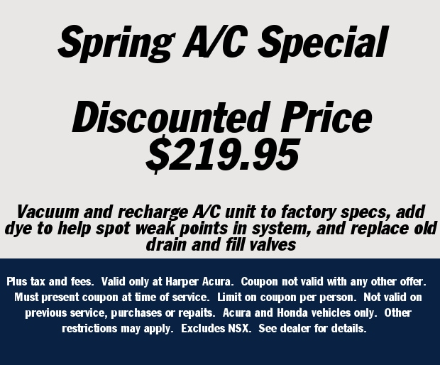 Harper Acura New Acura Dealership In Knoxville TN - Acura dealer service coupons