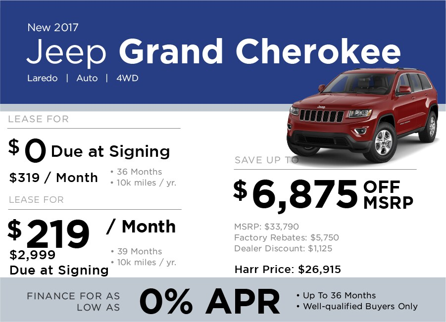 Jeep Grand Cherokee Special Offers