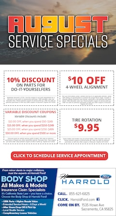 Service Specials in Sacramento CA