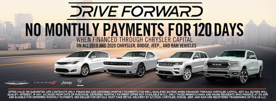 Drive Forward No Monthly Payments for 120 Days