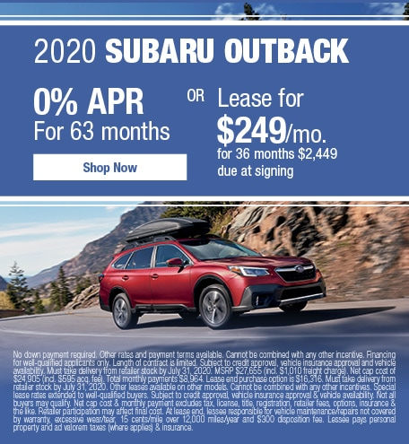 2020 Subaru Outback July