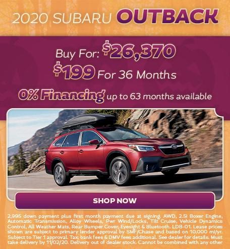 2020 Subaru Outback October