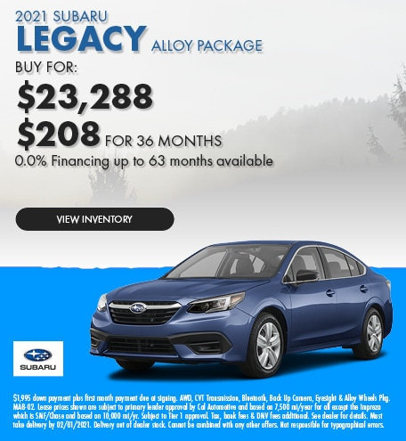 2021 Subaru Legacy Alloy Package