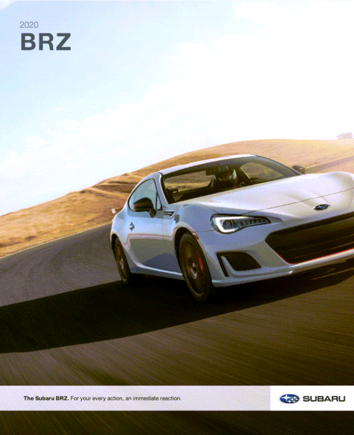 2020 Subaru BRZ Brochure Cover