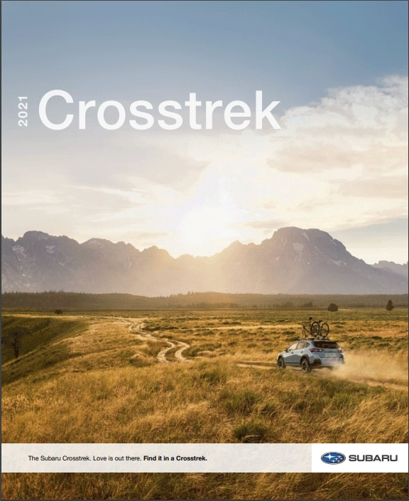 2021 Subaru Crosstrek Brochure Cover