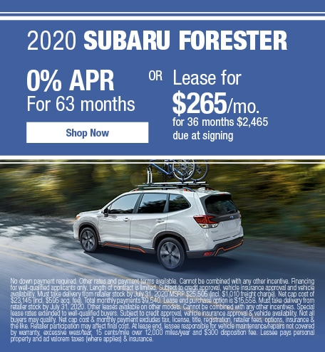 2020 Subaru Forester July
