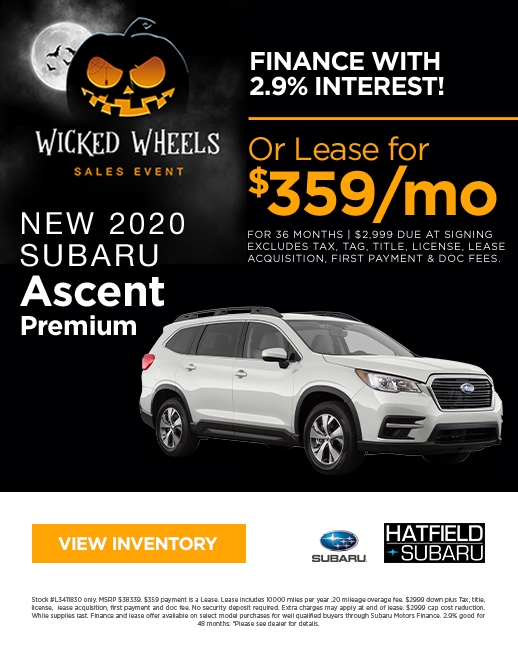 2020 Subaru Ascent Purchase & Lease Special