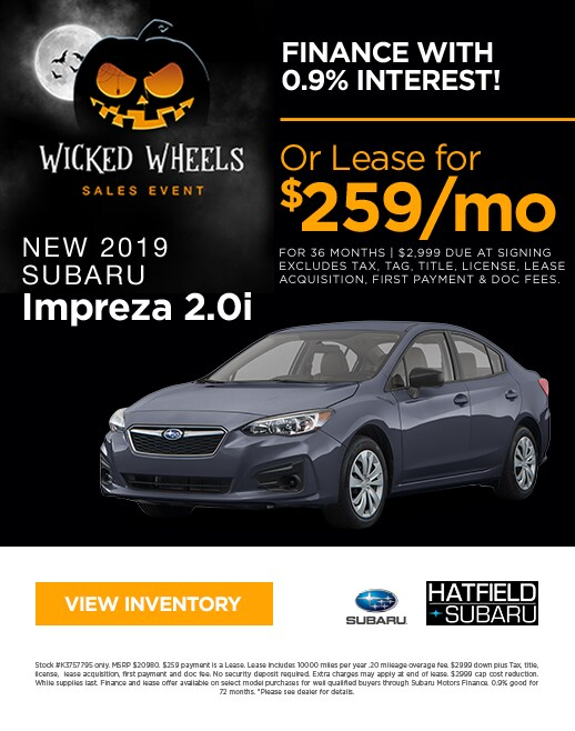 2019 Subaru Impreza Purchase & Lease Special