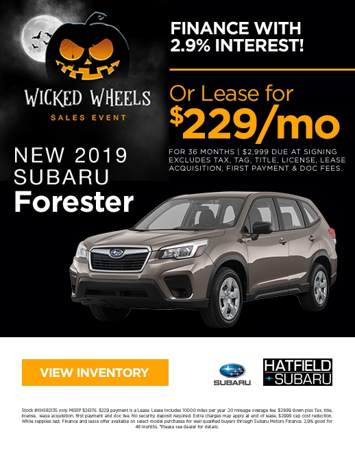 2019 Subaru Forester Purchase & Lease Special