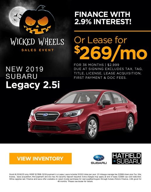 2019 Subaru Legacy Purchase & Lease Special