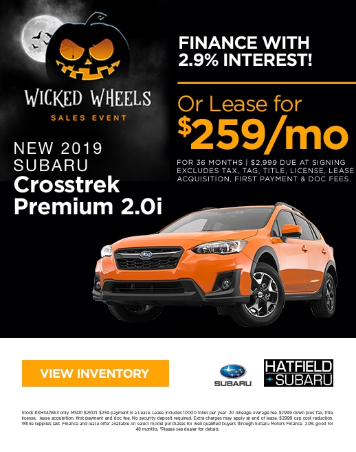 2019 Subaru Crosstrek Purchase & Lease Special