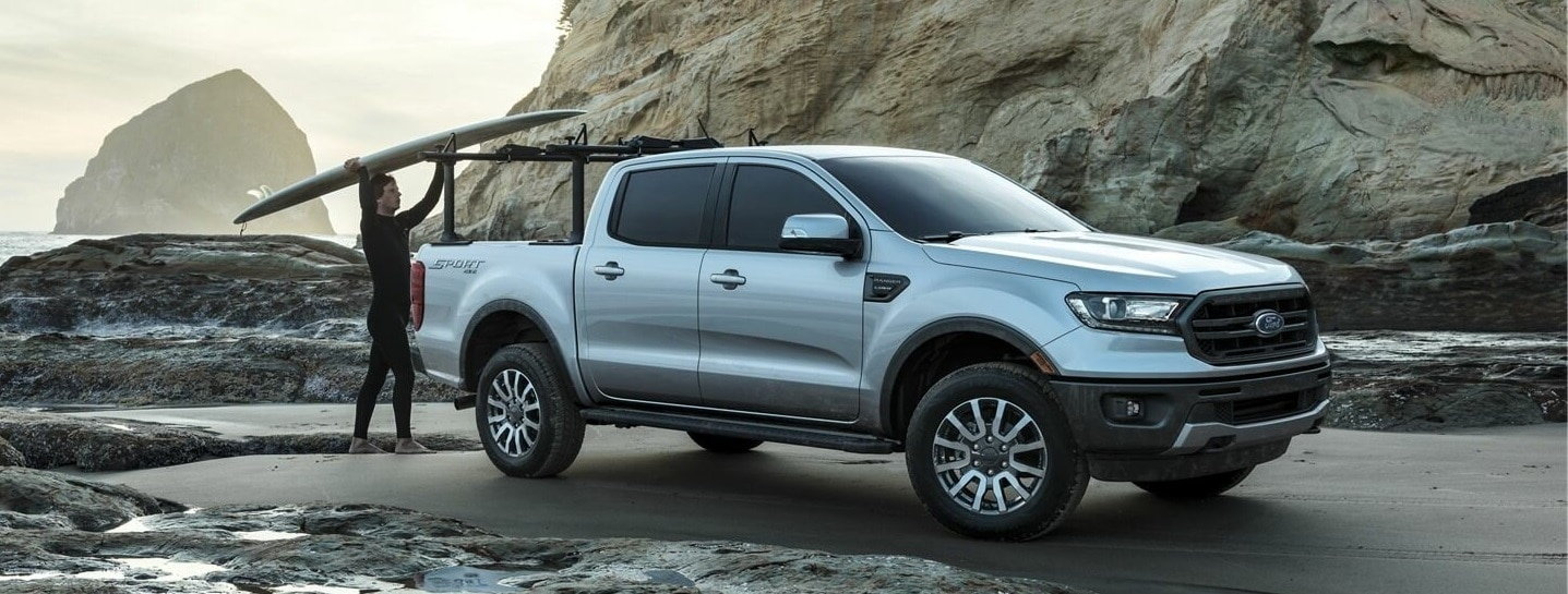 A Silver 2019 Ford Ranger