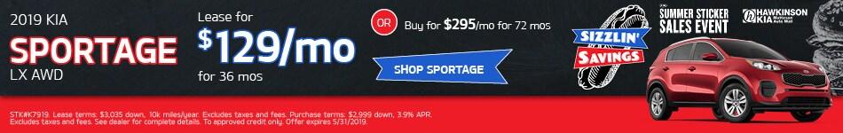 May 2019 Kia Sportage Lease