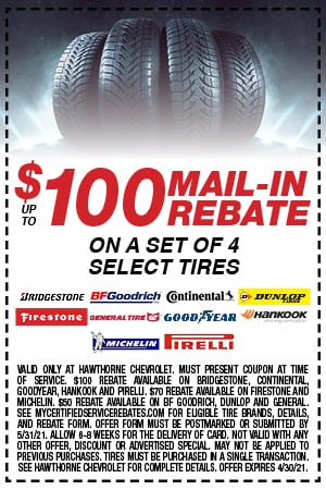 Up to $100 Mail-In Rebate
