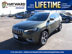 New 2019 Jeep Cherokee LIMITED 4X4 Sport Utility 1C4PJMDX1KD335726 for sale in Hayward, WI at Hayward Chrysler Dodge Jeep Ram