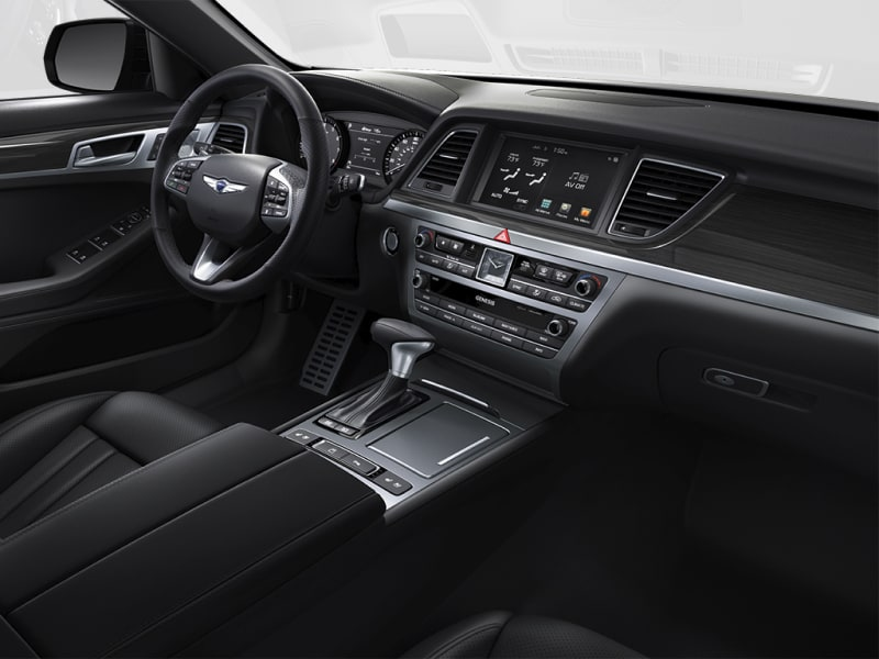 The luxurious interior of the 2019 Genesis G80